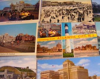10 Atlantic City Postcards, New Jersey Postcards, UNUSED, New Jersey, Unused Postcards, Save the Date Cards, Wedding cards