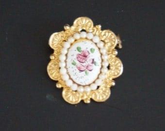 Vintage, Rose Brooch