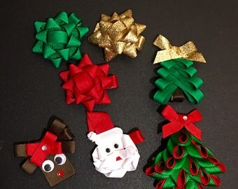 Christmas ribbon sculptures