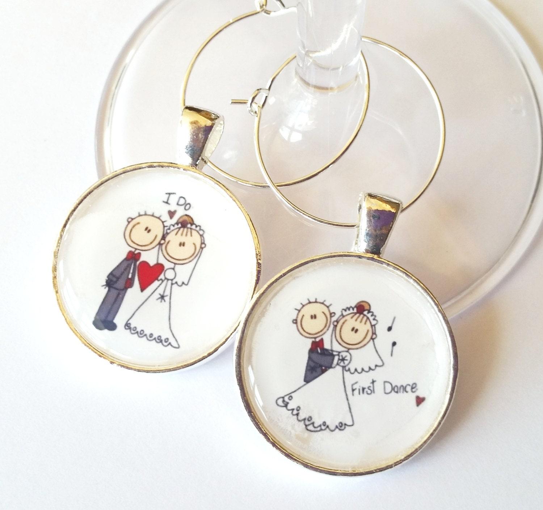 Bride Amp Groom Wedding Wine Tags Wine Glass Charms Wedding