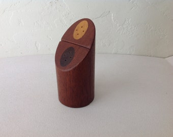 Modernist Teak Salt & Pepper Shakers, Denmark c.1970
