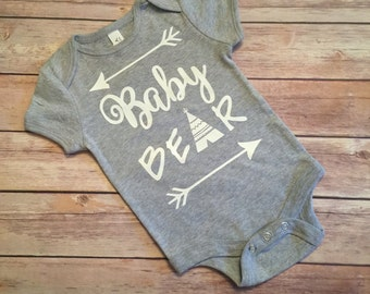 Baby Bear Grey Onesie