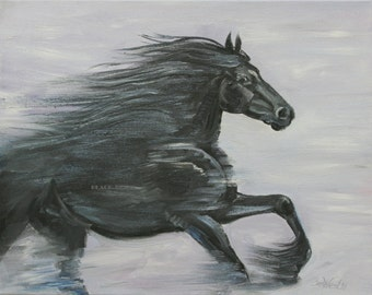 Black Horse/Printable Art/Wall Art/to print/