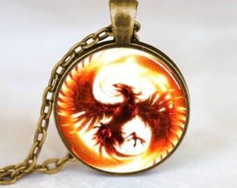 phoenix picture pendant necklace