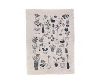 Canopy of Gentle Blooms Screen-printed Tea Towel - Bloom Voyage