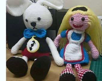 Alice and the white rabbit set