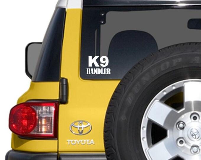 K9 handler decal, K9 handler sticker, K9 handler, K9 car sticker, police dog decal, police dog sticker, k9 sticker, k9 dog sticker, k9