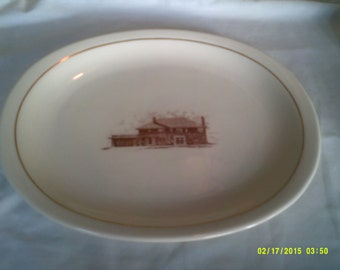 Vintage Balfour Serving Platter, Attleboro, Ma., Balfour Meat Platter, Balfour Hotel China, Attleboro Souvenir, Oval Serving Platter