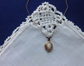 Small Cameo Necklace, 18.25 in, 46.4 cm