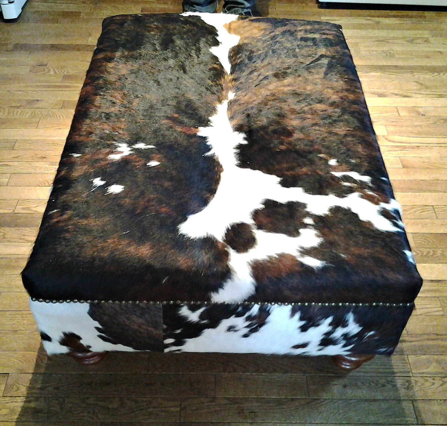 Genuine Cow Hide Cowhide Ottoman Footstool Bench Chair