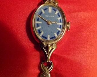 Vintage Bulova Women's Art Deco style winding watch