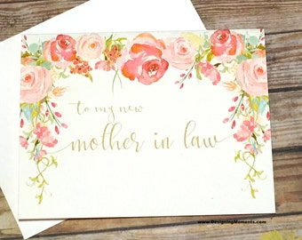 Mother in Law Thank You Card, Wedding Mother in Law Thank You, Wedding Card, Mother in Law Thank You Card - To my Mother in law - HEIRLOOM