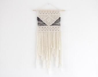 Medium Macrame Wall Hanging with Weave detail / Boho Wedding Decor / Wedding Decoration / Triangle