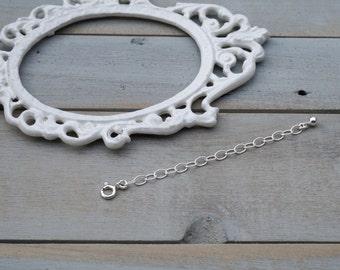 Necklace Extender / Adjustable Length Chain Extender / Sterling Silver Necklace Extender /Adjustable Chain / BellaExtender