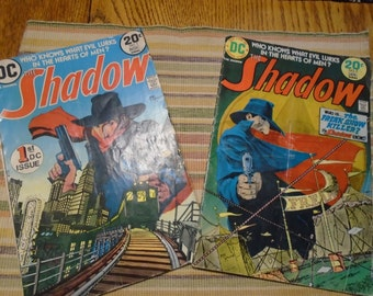 DC Comics The Shadow Comic Books Vol. 1 and 2 1970's