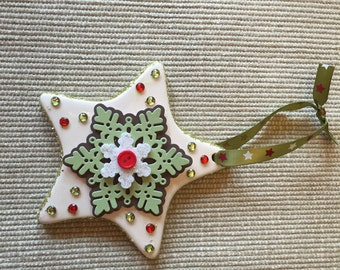 Porcelain Star Christmas Ornament