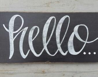 Hello Chalkboard Sign