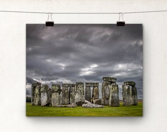 Stonehenge Photo, Fine Art Print, Landscape Photograph, Ancient England