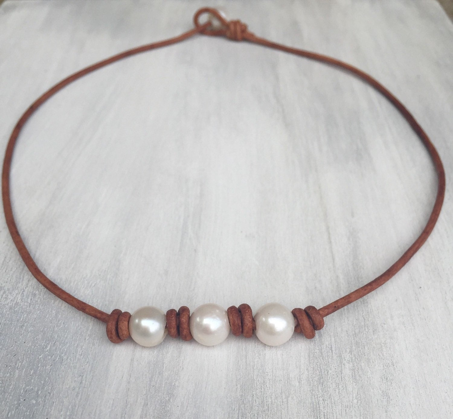 pearl leather necklace leather and pearls pearl necklace