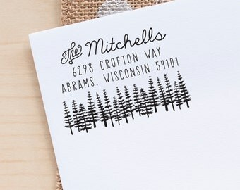 Tree address stamp, return address rubber stamp, stationery stamp, invitation stamp, custom stamp custom address wedding stamp calligraphy