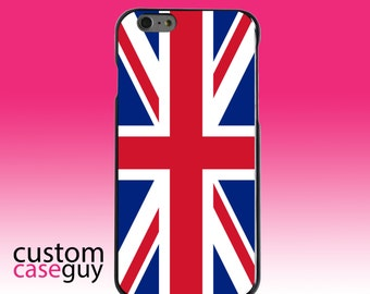 Hard Snap-On Case for Apple 5 5S SE 6 6S 7 Plus - CUSTOM Monogram - Any Colors - Red White Blue British Flag UK