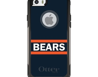 OtterBox Commuter for Apple iPhone 5S SE 5C 6 6S 7 8 PLUS X 10 - Custom Monogram - Any Colors - Orange Navy Bears