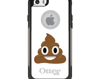 OtterBox Commuter for Apple iPhone 5S SE 5C 6 6S 7 8 PLUS X 10 - Custom Monogram - Any Colors - Poop Emoji