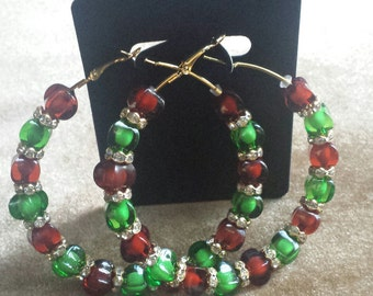 Basketball wives inspired brown and green hoop