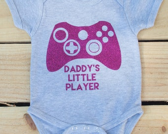 Daddys Little Player Coming Home Outfit Gamer Shirt Daddy and Me Shirt Daddy Daughter Shirt Matching Shirts Family Shirt