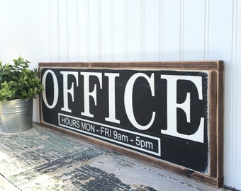 Office Painted Wood Sign - Wood sign - Office Sign - Distressed Rustic Antiqued sign Decor - Wall Art - Laundry Room Decor
