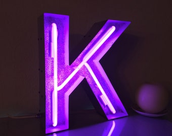 Stylish Metal Marquee light up letters with neon