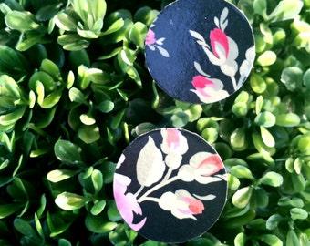 Flower Power- Handmade Wooden Earrings