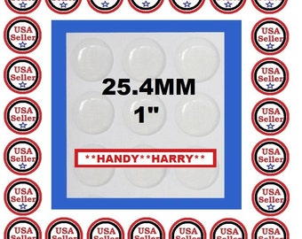 Special Pricing Sale (100)  25.4mm 1 inch Crystal Clear Epoxy Adhesive Circle Bottlecaps Bottlecap Stickers Dome Dots Bubble