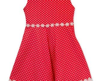 Little Girls Floral Trim A-Line Dress; Floral Summer Dress Size 5T