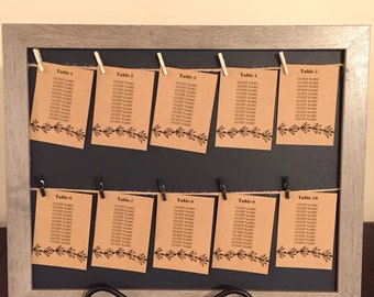 Seating Chart/Photo Display