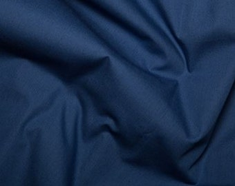 Navy Blue - Cotton Poplin - Plain dyed 45""