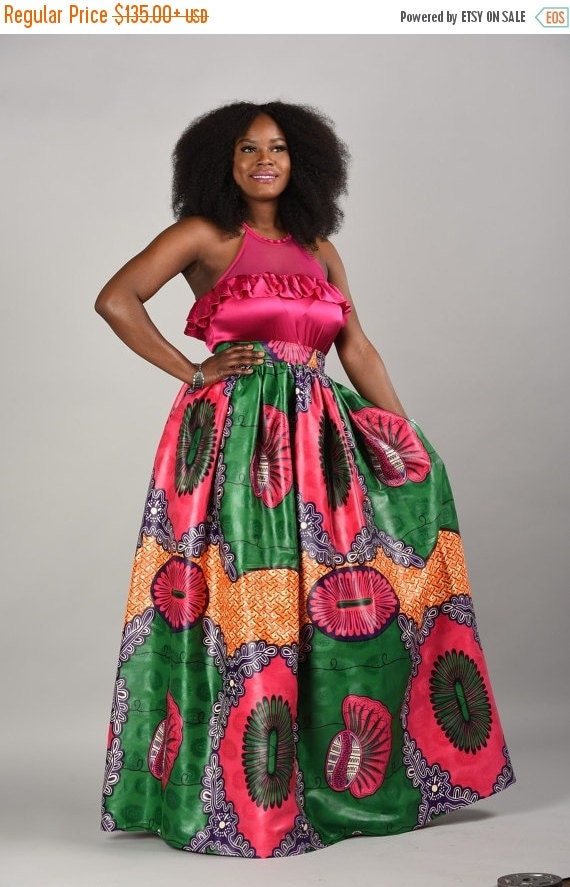 Clearance Patti African print skirt