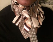 Tie Couture: Orangy Polka Dots #58