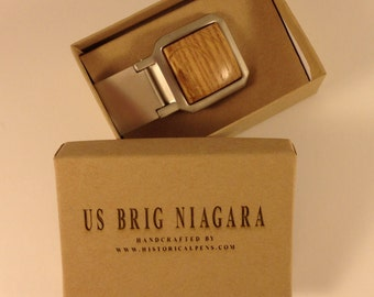 Money or Credit Card Clip made with Oak from the Brig Niagara
