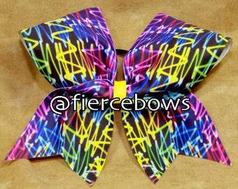 Neon Lights Cheer Bow