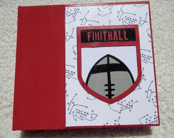 6x6 Red and Black Football Scrapbook Album