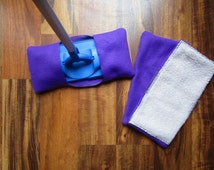 Reusable mop/duster sets in purple