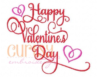 Valentine Embroidery Design, Valentine Applique Design, Happy Valentine's Day Embroidery
