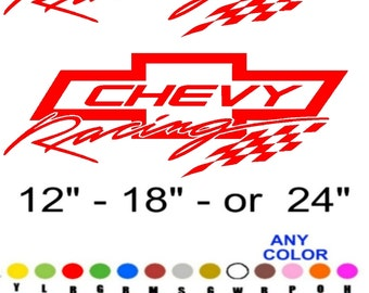 Chevy racing stickers decals  ANY COLOR  Any size chevrolet