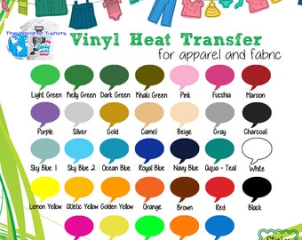 "Easy to weed Iron On Heat Transfer Vinyl, T Shirts, craft cutter 15"" x 1 Yard :)"