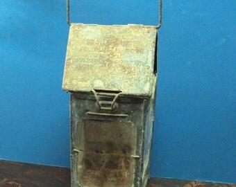 WW1 1906 Stonebridge trench lantern with mica isinglass lens