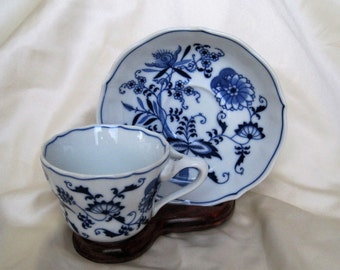 Vintage Blue Danube Cup and Saucer ~ Blue Onion ~  Cup and Saucer ~