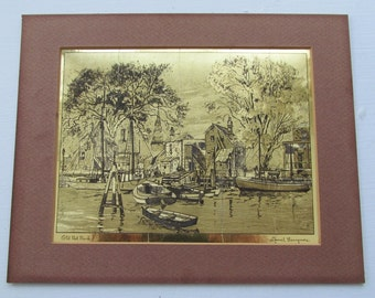 Talio Chrome Print LIONEL BARRYMORE Signed Gold Foil Hollywood