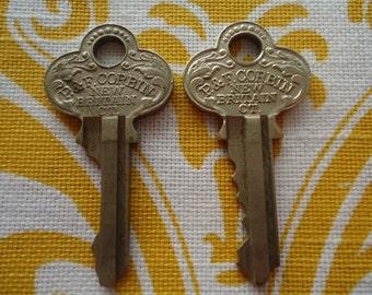2 P&F Corbin New Britain CT Cabinet Keys