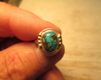 Nevada Turquoise sterling silver ring, size 6 3/4